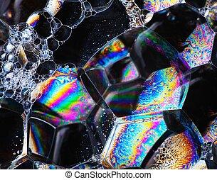 Estructura celular, fondo abstracto, colores vibrantes