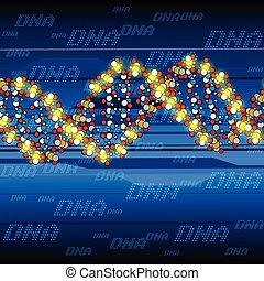 Estructura de ADN brillante