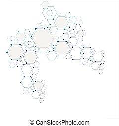 Estructura de conexión molecular