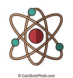 Estructura molecular icono aislado
