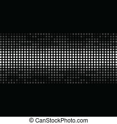 Estructura mosaica en un fondo negro. Una ilustración del vector
