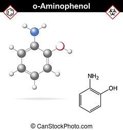 Estructura química aminofenol ortopedia