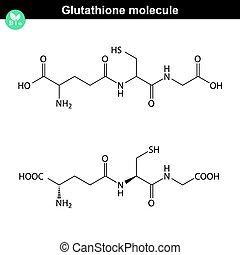 Estructura química de glutathiona