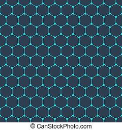 estructura, seamless, plano de fondo, molecular, patrón