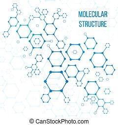 estructura, vector, codificación, molecular, o, elementos, estructural