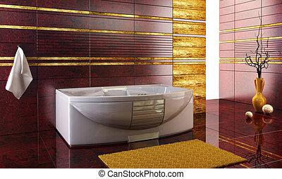 Estrujaste el diseño de los azulejos del baño