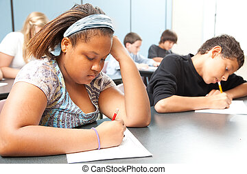 Estudiantes inversas, pruebas objetivas