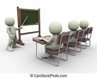 estudiantes, profesor