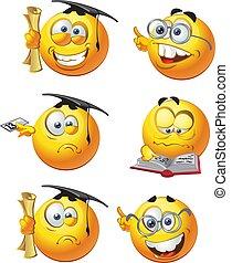 estudiantes, smilies, redondo