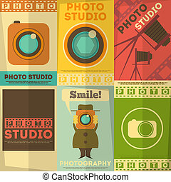estudio de la foto, cartel