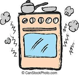 estufa, caricatura