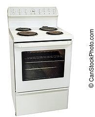 estufa, cocina, blanco