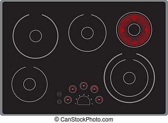 estufa, moderno, eléctrico