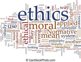 Etica nube de palabras