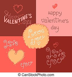 Etiqueta de cartas de San Valentín