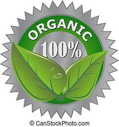 Etiqueta de productos orgánicos