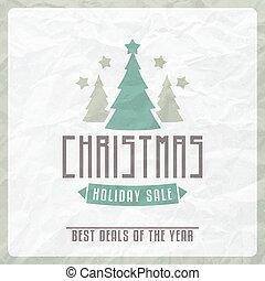 Etiqueta de venta de Navidad