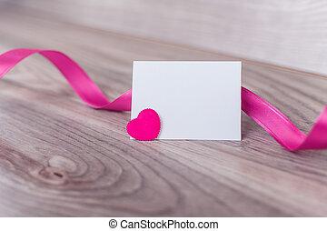 Etiqueta vacía el día de San Valentín