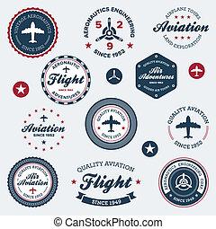 Etiquetas de aeronáutica