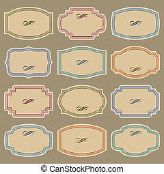 Etiquetas de colección en blanco (vector)
