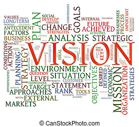 Etiquetas de palabras de visión