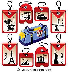 Etiquetas de viaje