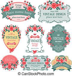 Etiquetas de vintage