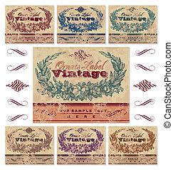Etiquetas de vitrina establecidas (vector)