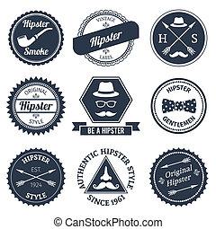 Etiquetas Hipster establecidas