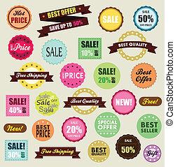 etiquetas, sitio, venta, envío, desconto, descuento, promocao