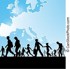 europa, gente, inmigración