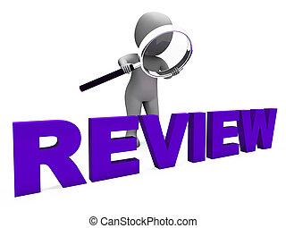 evaluar, revisión, carácter, revisiones, repasar, exposiciones