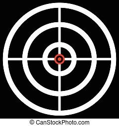 exactitud, apuntar, blanco, reticle., caza, marca, arma de fuego, cruce pelo, gráficos, concepts., apuntar