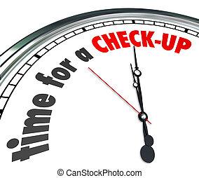 examen, reloj, chequeo, palabras, tiempo, evaluación, físico
