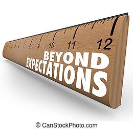 exceed, regla, grande, resultados, trabajo, más allá de, expectations