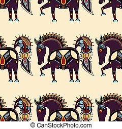 excepcional, pauta tela, tribal, seamless, animal, étnico