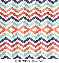 excepcional, vendimia, resumen, pattern., efecto, geométrico, 3d