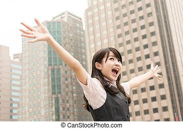 Excitante mujer de negocios