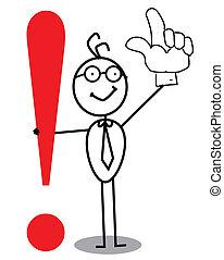 exclamación, empresa / negocio, marca, atención