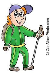 excursionista, caricatura