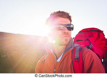 excursionista, mochila