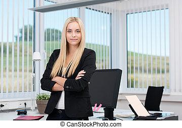exitoso, confiado, ejecutivo, empresa / negocio