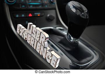 Experiencia de uso automovilístico interior automotriz 3d ilustración