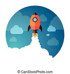 Exploración espacial Rocket