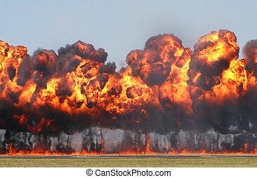 explosión, gigante