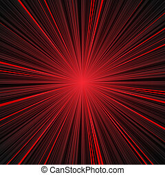 explosión, resumen, rayas, fondo negro, rojo