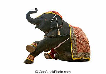 exposición, elefante, chiang, safari, noche, mai
