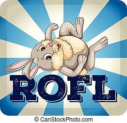 expresión, conejo, rofl