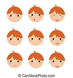 expresión, iconos