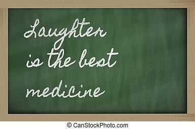 expresión, risa, -, mejor, medicina
